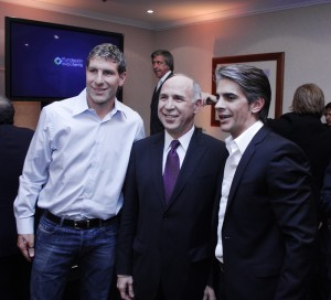 Junto a Martín Palermo y Pablo Echarri